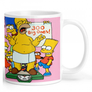 The Simpsons Game Cartoon Ceramic Coffee Mug