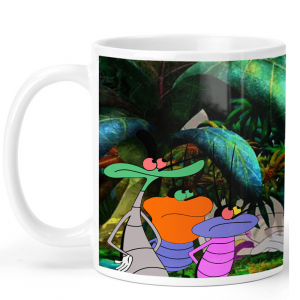 Oggy and the Cockroaches Cartoon Ceramic Coffee Mug