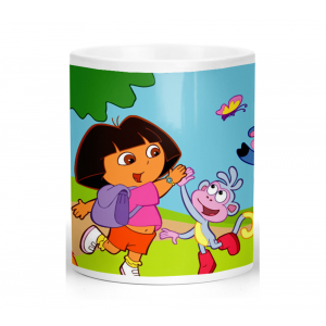 Dora The Explorer Cartoon Ceramic Coffee Mug