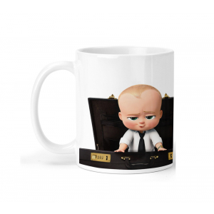 BABY BOSS Cartoon Ceramic Coffee Mug