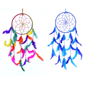 Dream Catcher Multi Color Combo Ring Dream Catcher Wall Hanging (6 Inch) for Positive Energy and Protection (Pack of 2 )
