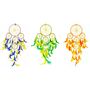 5 Rounds Dream Catcher  Wall Hangings Combo (Pack of 3)